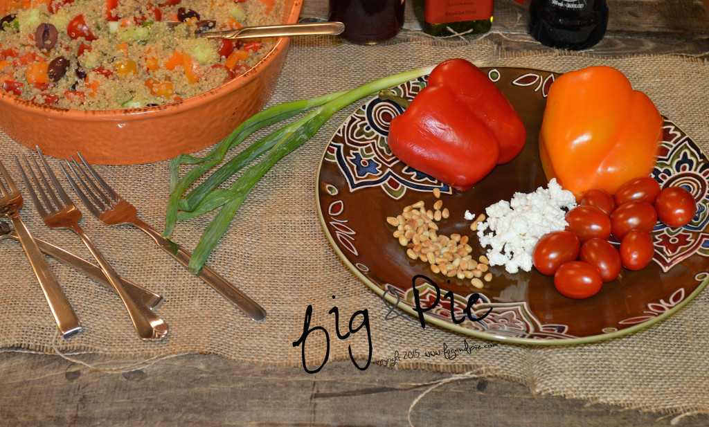 Quinoa Salad with Tomatoes, Feta, Bell Pepper & Pine Nuts  (3) wm