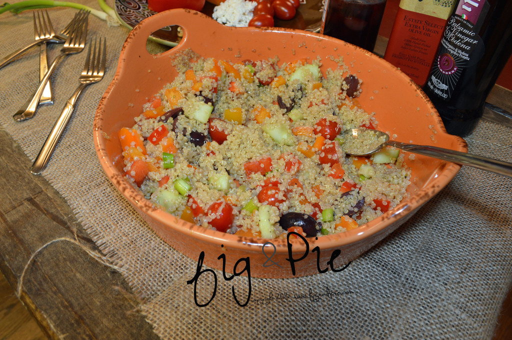 Quinoa Salad with Tomatoes, Feta, Bell Pepper & Pine Nuts  (40) wm