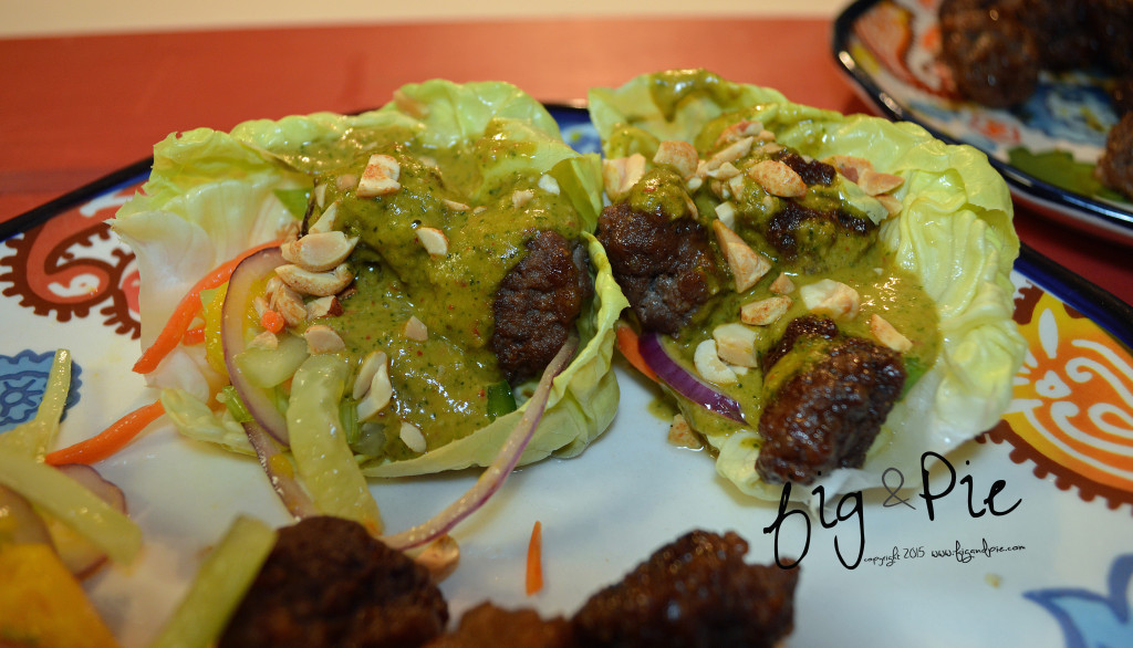 Asian Inspired Meatball Lettuce Wraps (10) WM