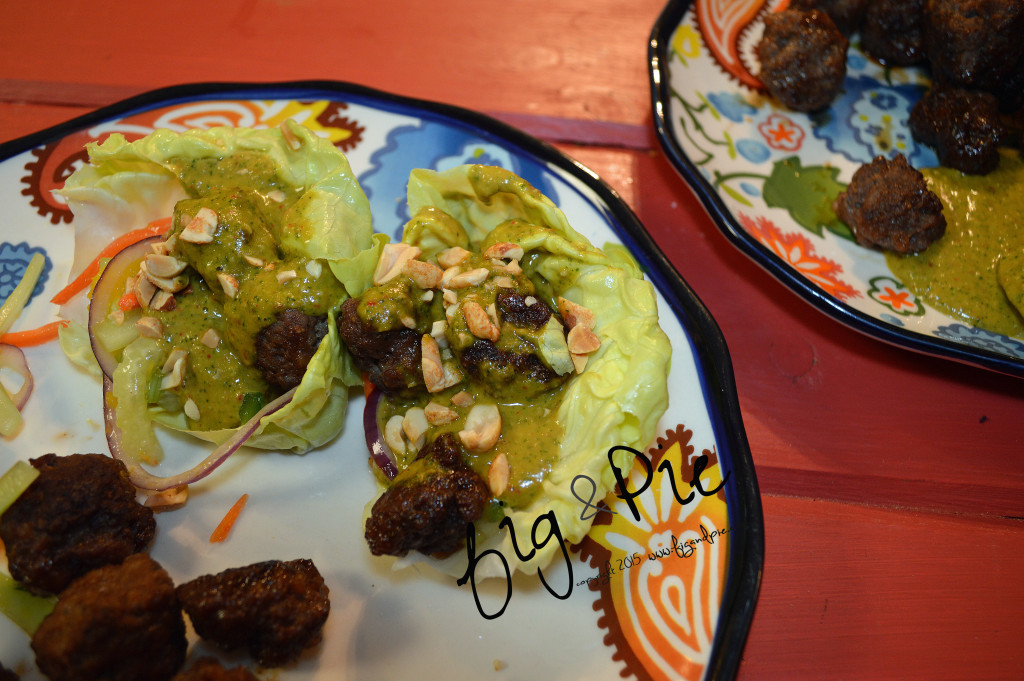 Asian Inspired Meatball Lettuce Wraps (6) WM